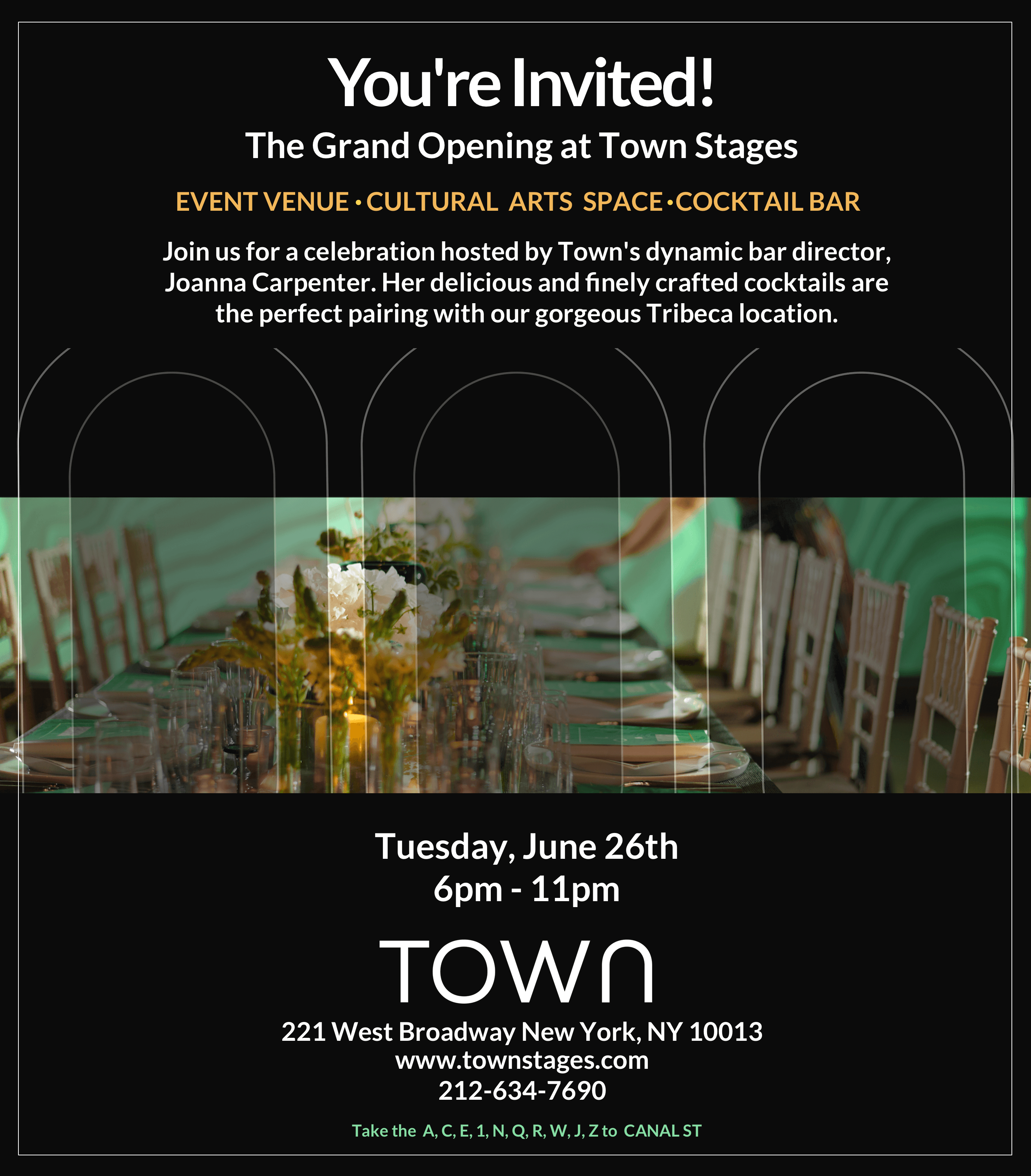 You're Invited - Town Stages Grand Opening