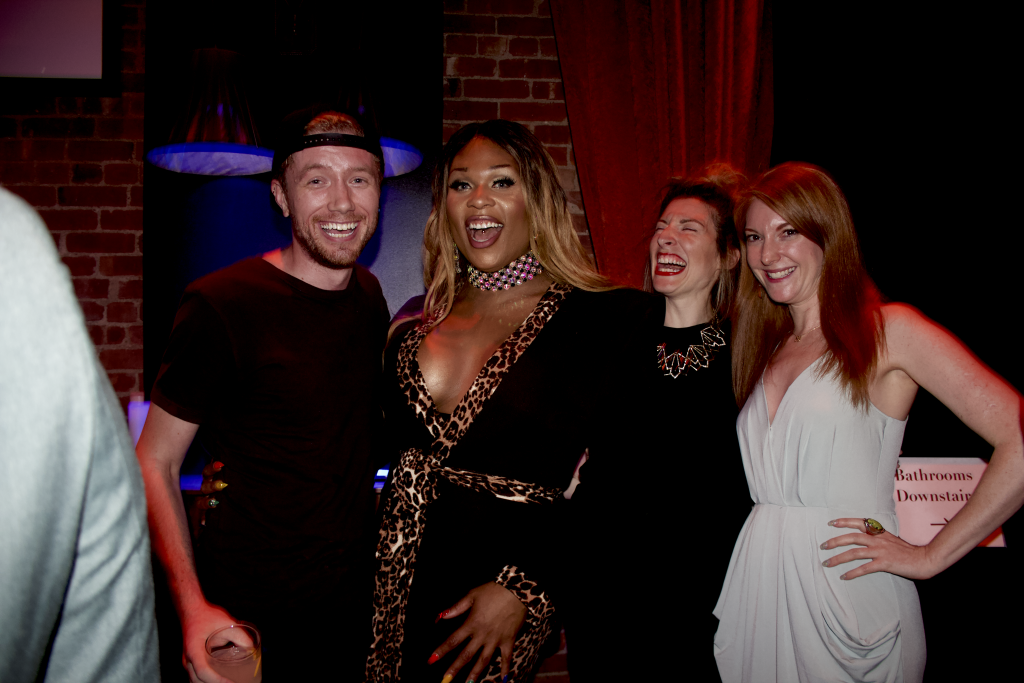 Peppermint and Town Staff at Queerty Party